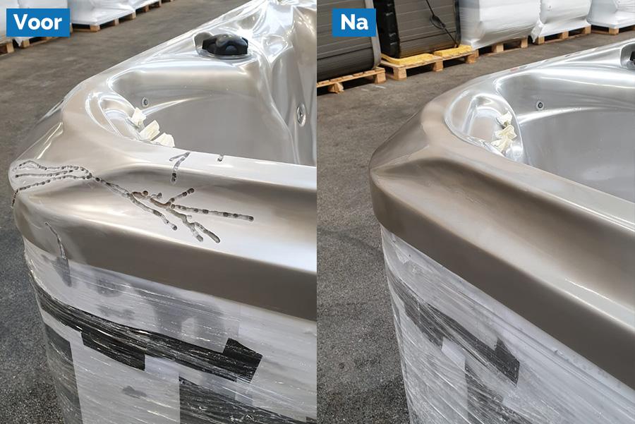 reparatie van optakelen spa jacuzzi acrylaat